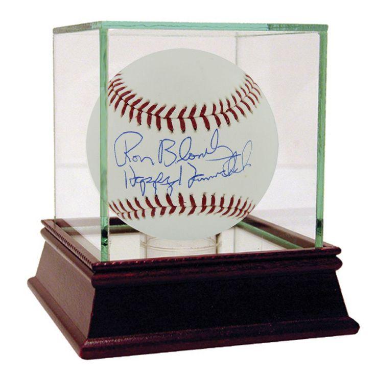 Ron Blomberg Signed MLB Baseball w/ Happy Hannukah insc