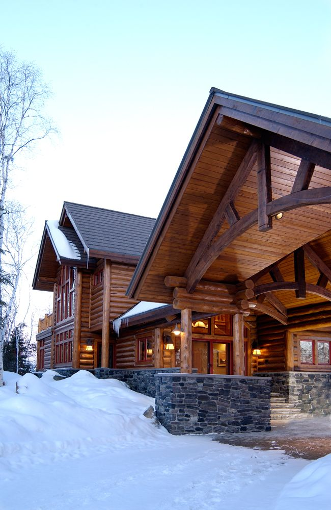 Big Wood Timber Frames Inc.   The Log Cabin