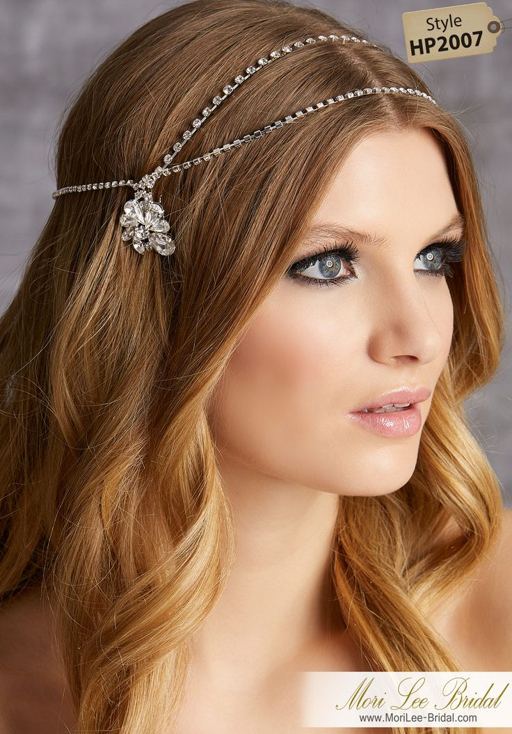 STYLE HP2007Rhinestone Halo with Floral Side CombsAvailable in Silver