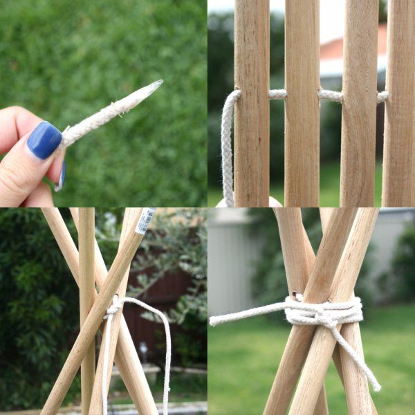 How To: DIY Tee Pee Tent - part 1 ▽▼▽ My Poppet - kids | craft | vintage | fun