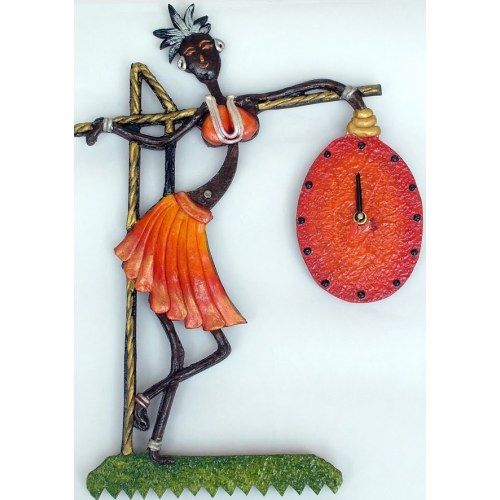Tribal Lady Wall Clock - Online Shopping for Clocks by Zest Decor