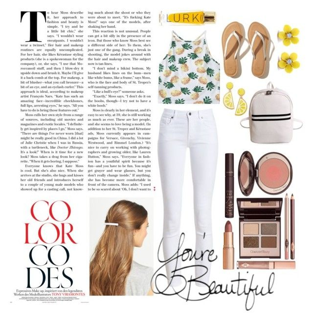 """""""Untitled #20"""" by cherylangelines on Polyvore featuring Barbour, Hollister Co., Celebrate Shop, WithChic, L. Erickson and Charlotte Tilbury"""