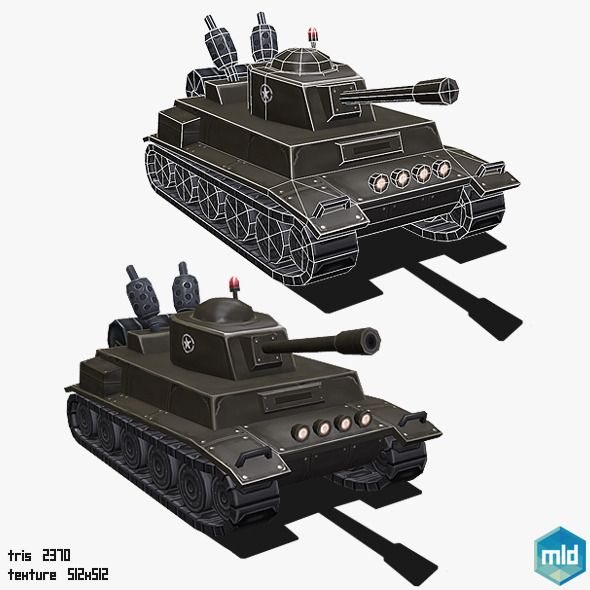 Low Poly Tanks