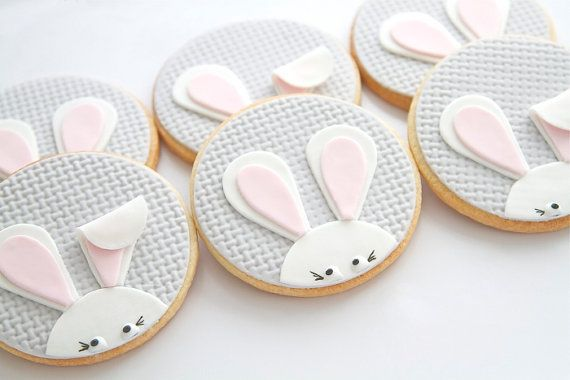 bunny cookies - I don't love fondant, but these are super cute!