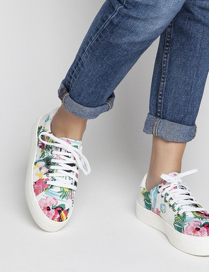 Spring Summer New Collection - Tropicana #keepfred #fred #sneakers #shoes #outfit #style #fashion #new #collection #spring #colors #women #casual #sporty #look #flowers #white #floral