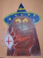 Čarodějnice - kresba pastelkami :: M o j e v ý t v a r k a
