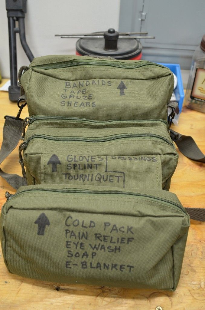 """This week, we will outline what I refer to as the """"medical bucket,"""" for use in any bug-in scenarios, along with a folding medical bag known as the M3 Medic's Bag. If you have seen…"""