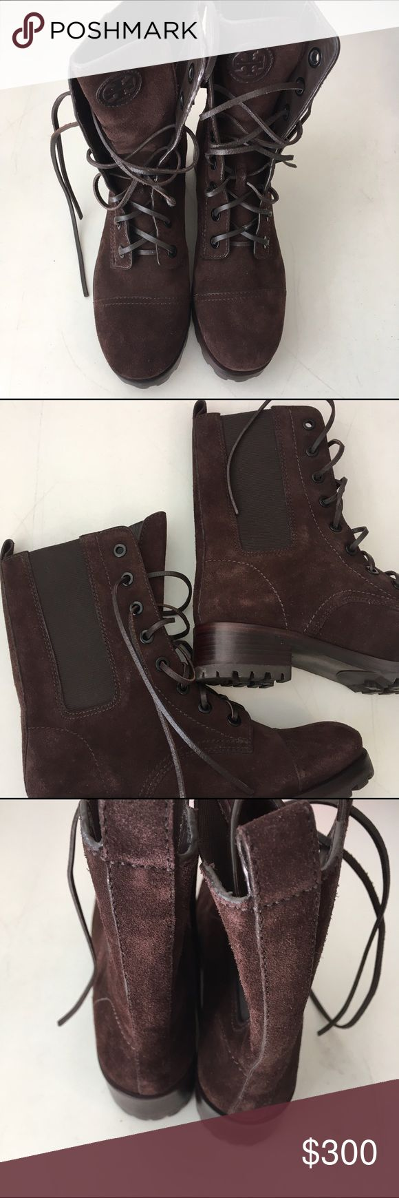 Tory Burch Broome Suede Boots New without box  8 Tory Burch Boots New without box size 8 Tory Burch Shoes Lace Up Boots
