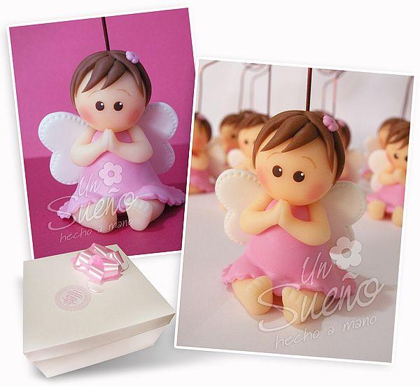 Angel de cerámica en frío con clip porta-notas, elaborado a mano, puedes ver mas modelos en facebook: Un Sueño - Hecho a Mano