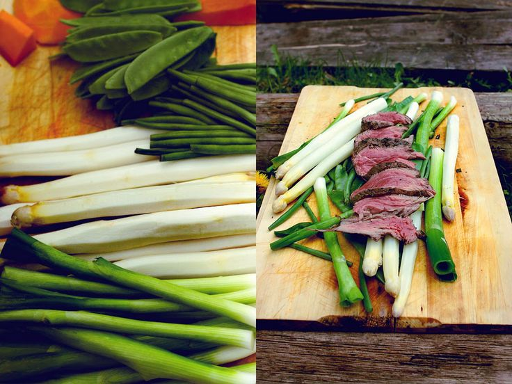 MA-SO PLANET beef onion asparagus and peas spring food,
