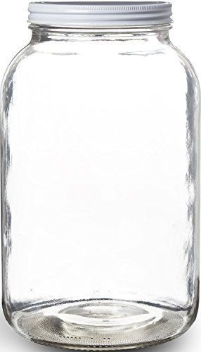 Details About One Gallon Wide Mouth Glass Mason Jar With Metal Lid