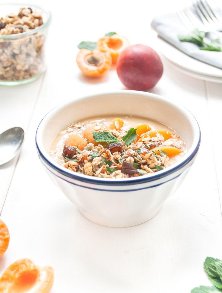 Breakfast peach bowl - Lactose/soja/gluten/banana free - by becomeadinosaur