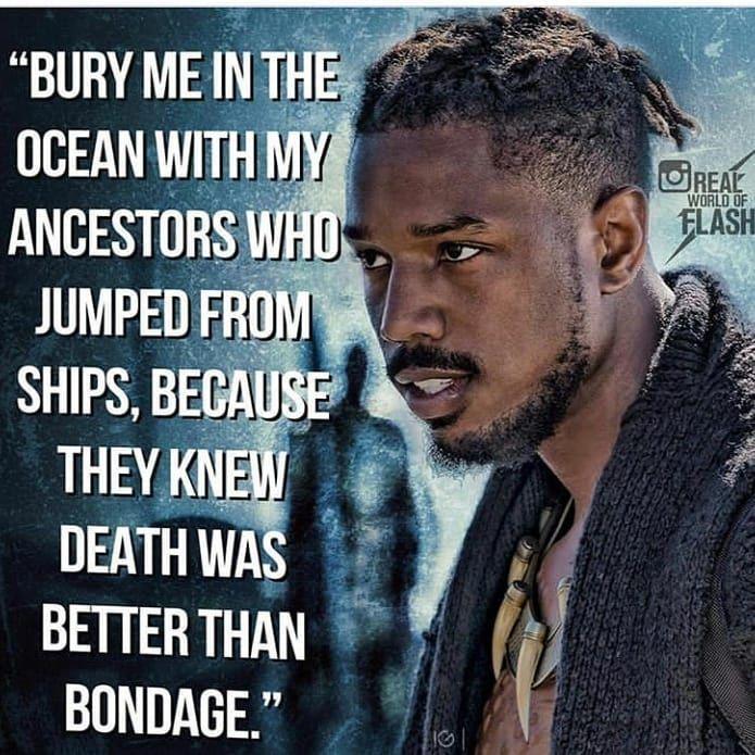 #Deepest an #dopest thing i ever heard #blackpanthermovie #blackisbeautiful #warrior #king #standforsomeordiefornothing #irootforthebadguys