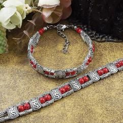 http://crazyberry.in/online-shopping/artificial-imitation-fashion-jewellery/tibet-antique-silver-plated-red-beads-bracelet