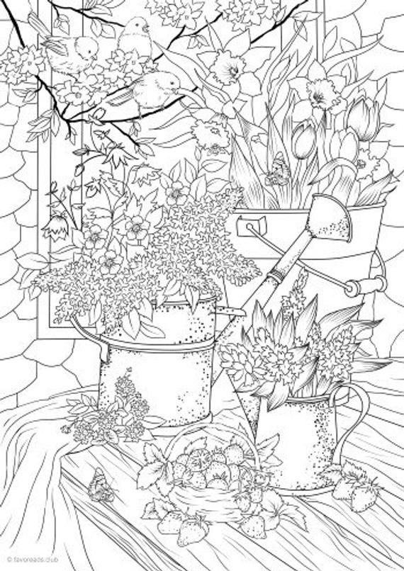Summer Vibes Printable Adult Coloring Page From