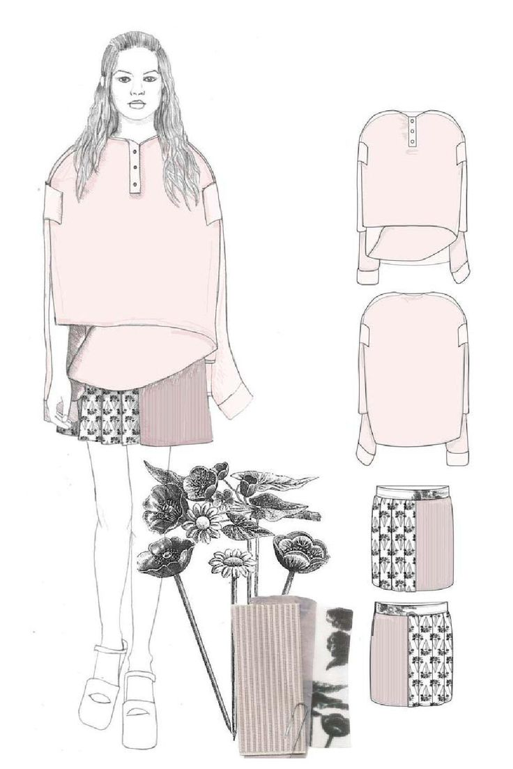 Tops fashion design sketches flat fashion sketch top 045 - Fashion Sketchbook Fashion Illustration Fashion Design Drawings Fashion Portfolio Masha Latman