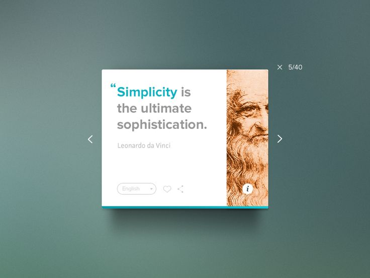 Here's a rebound of @Bluroon excellent Author Quotes UI. I've been meaning to do it for a while now. I really wanted the feel of the widget to go with the quote.  Follow Me on Dribbble Follow Me on...