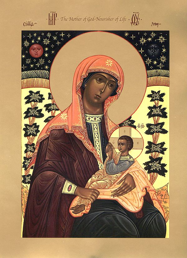 """Icon of the Mother of God the """"Milkgiver"""" - Orthodox Church in America"""