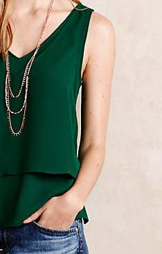 Dear Stylist, I really like the simplicity of this tank. It also helps It's in my favorite color!