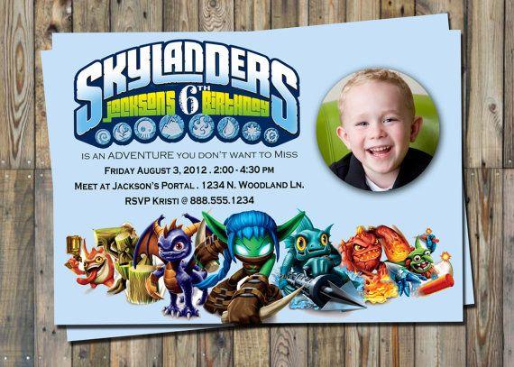 Skylander Birthday Invitation Personalized
