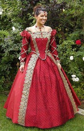 Custom Silk Elizabethan or Medieval Style Fantasy Gown