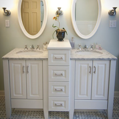 1894 best bathroom ideas images on pinterest - Double sinks for small bathrooms ...
