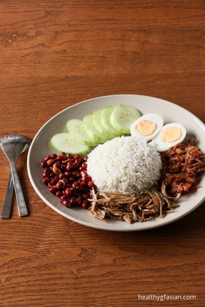 Gluten Free Nasi Lemak with Sambal Ikan Bilis
