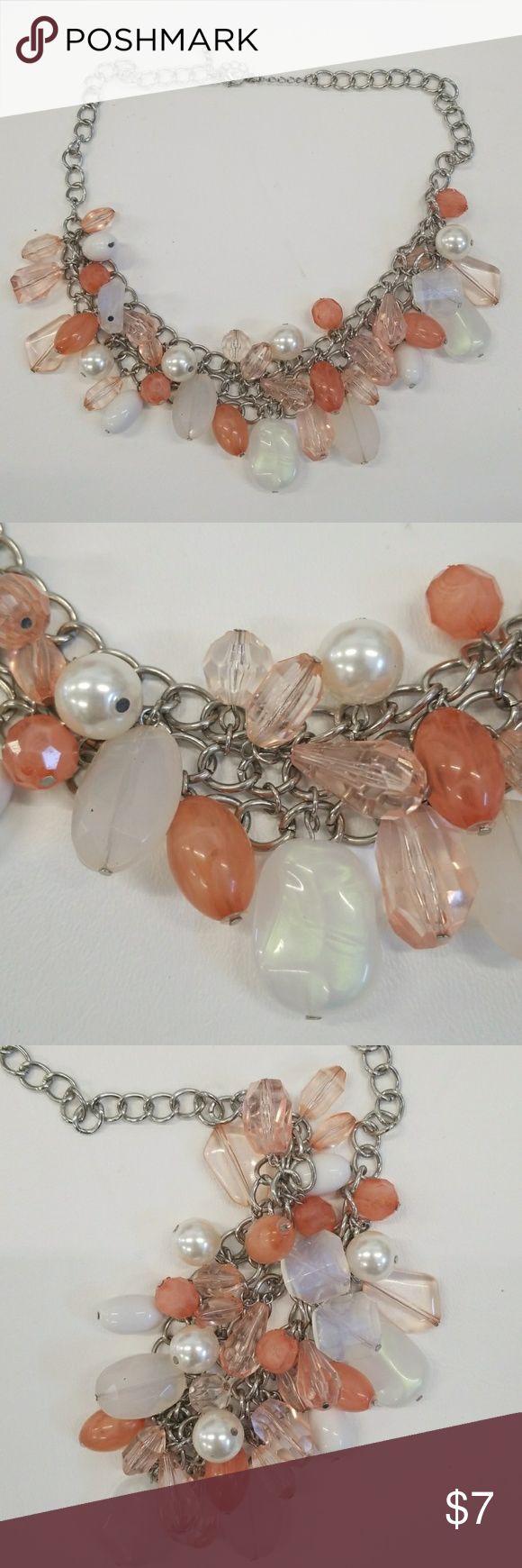 Dangle peach necklace  A1590B Dangle peach necklace Jewelry Necklaces