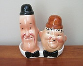 Vintage Laurel and Hardy Salt and Pepper Shakers