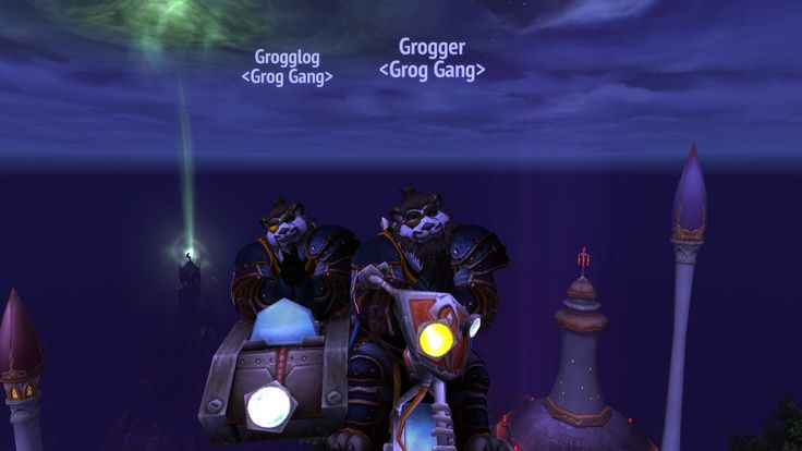 Made Panda outlaw rogues and grappled our way to the top of the central spire in Dalaran! #worldofwarcraft #blizzard #Hearthstone #wow #Warcraft #BlizzardCS #gaming