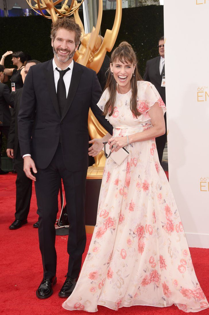 Pin for Later: Stars Couple Up on the Emmys Red Carpet Amanda Peet and David Benioff