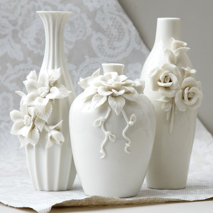 Capo-Di-Monte Rose Vase Set of 3  from Layla Grayce #laylagrayce #homedecor