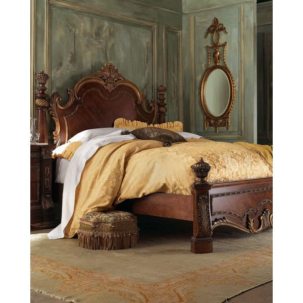 Queen Royalty Poster Bed ($1,299) Liked On Polyvore