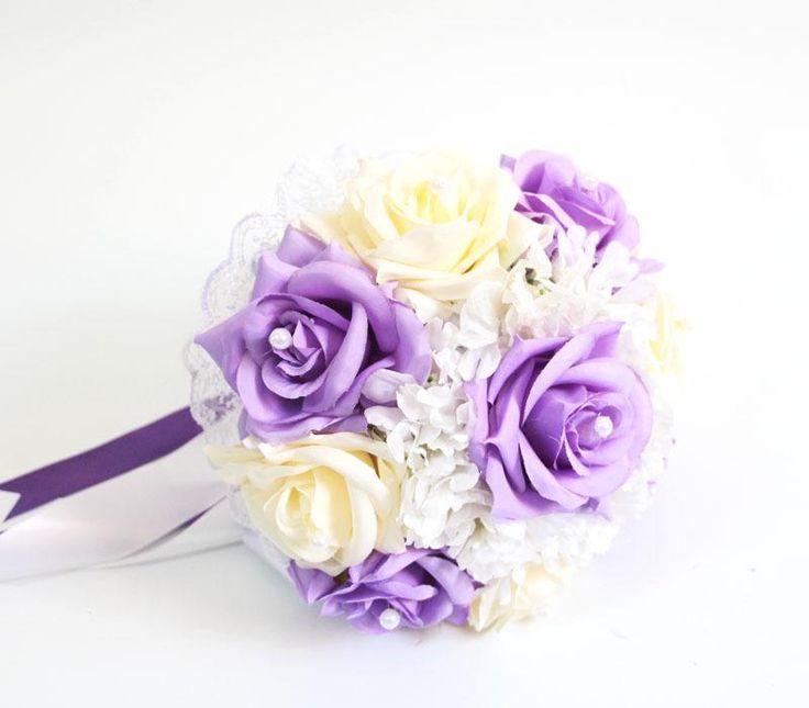 2015 Light Purple Wedding Bouquet Flower Bouquet For Bride ...