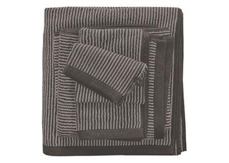 Marc O'Polo Handdoeken Timeless Tone Stripe deep clay/oatmeal
