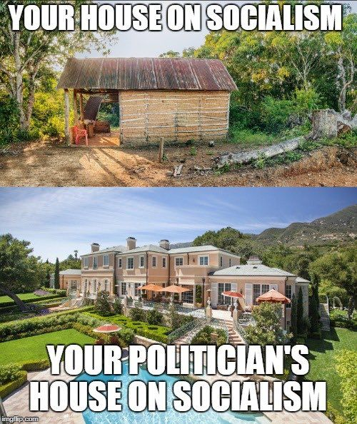 Bernie has 3 houses he earned by fooling voters!
