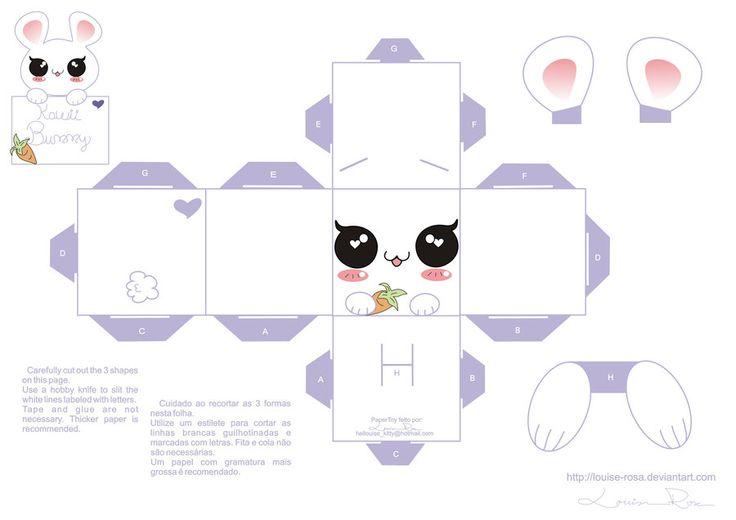 Cajitas de conejitos para imprimir gratis. Juguetes de papel. | Ideas y material gratis para fiestas y celebraciones Oh My Fiesta!