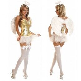 Golden Angel costume. With a longer tutu of course.