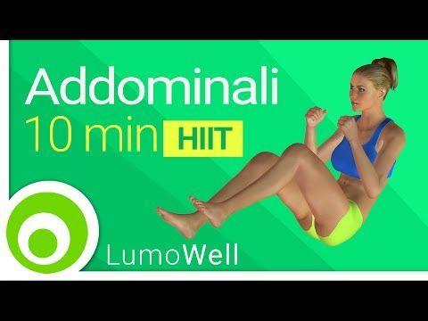 Addominali in 10 minuti: esercizi per la pancia, allenamento addominali a casa - YouTube