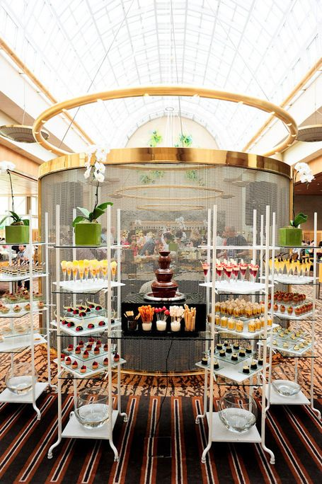 Display idea for your wedding dessert buffet - Greenhouse Restaurant Ritz-Carlton Millenia Singapore   Candy Buffet Weddings and Events   Scoop.it
