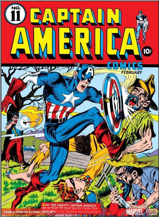 Captain America Issue 1 1941 | Captain America Comics (1941) #11 Cover