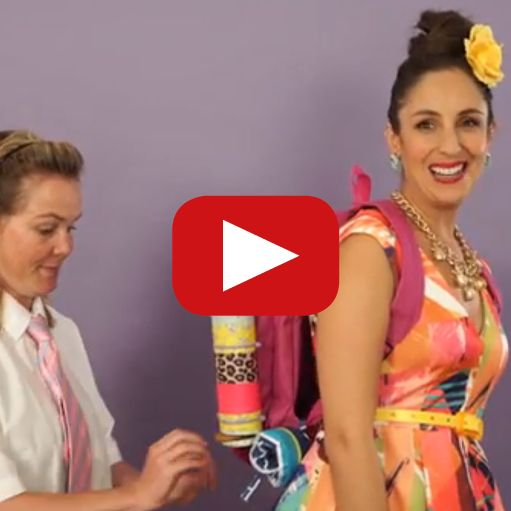 Suzelle DIY's unique back-to-school tips on how to hack a backpack. How funny is her phone-in-the-book idea?! ☺