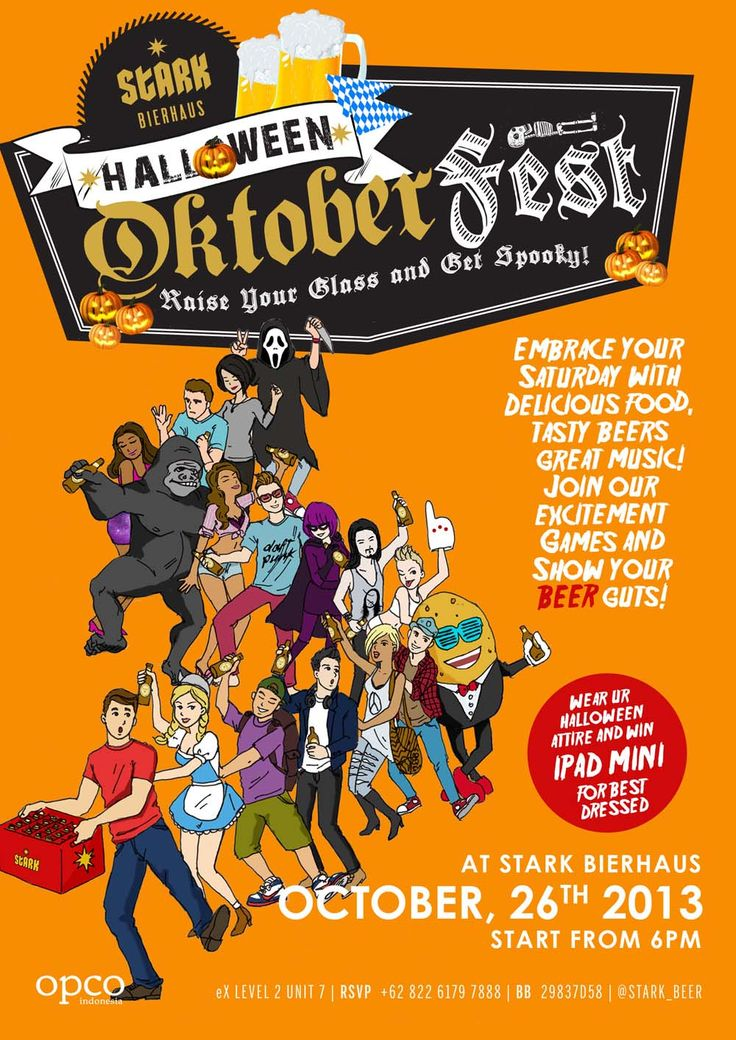 Halloween Oktoberfest at Stark Bierhaus 6 pm October 26th 2013. Raise your glass and get spooky!