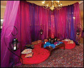 gossamer fabric-Iridescent Chiffon--i dream of jeannie theme bedroom decorating ideas