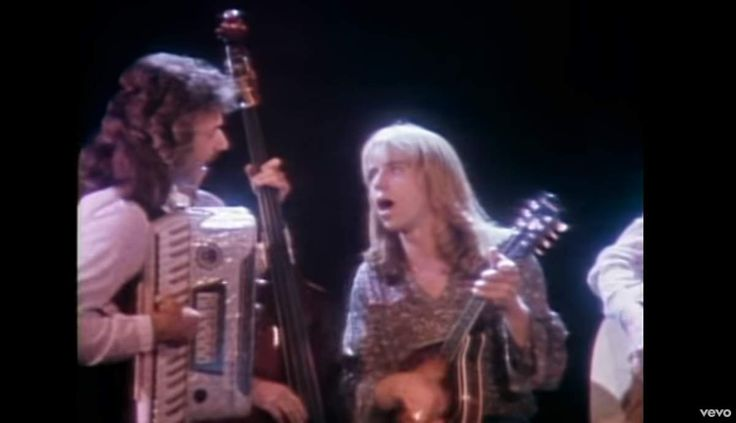 """American rock band Styx perform their hit song """"Boat on the river"""" from their 1979 album Cornerstone. The song was also released as a single in 1980."""