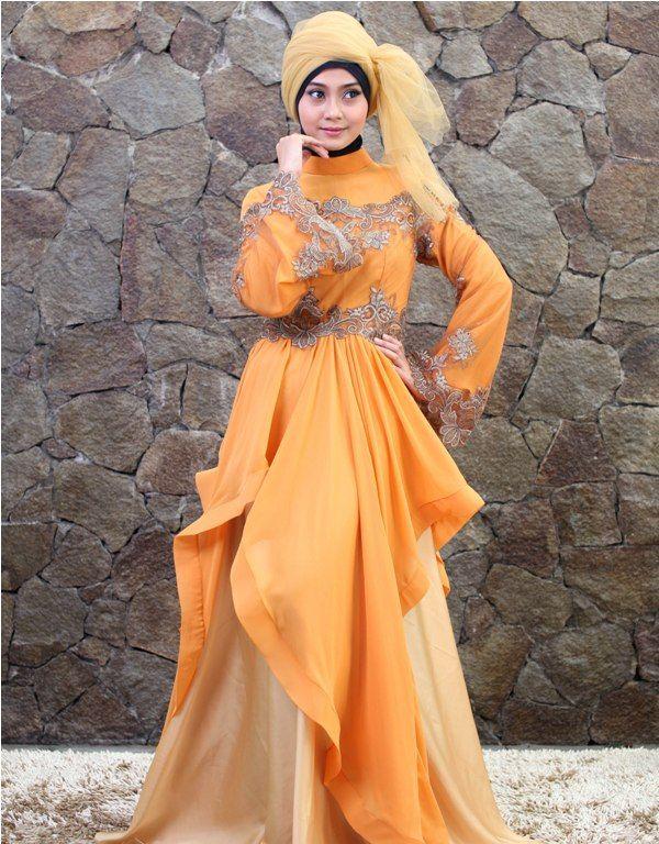 Model Gaun Kebaya Muslim Modern Paling Hitz Di Tahun 2016