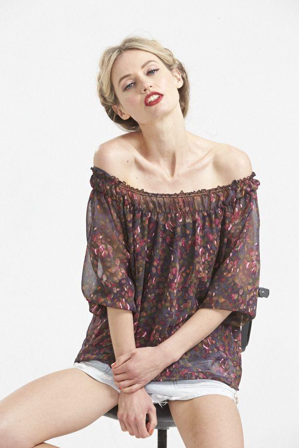 Lotus Silk Demi Sleeve in Plum. www.hideseekers.com