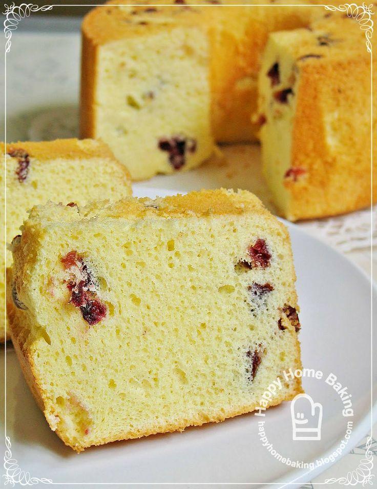 Sakura chiffon cake