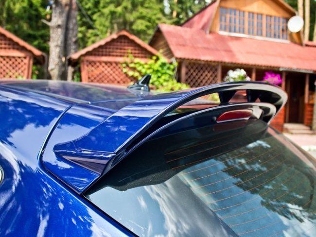 "Rear bi plane ""aero pack"" spoiler. Opel Astra J OPC, Buzz blue"
