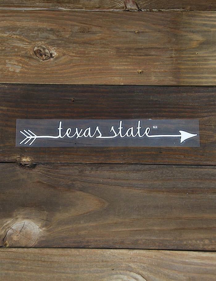 Enjoy this new Texas State Arrow Decal! It is perfect for most surfaces including your vehicle, laptop, lockers, and more! It is a great way to show your Bobcat Spirit!